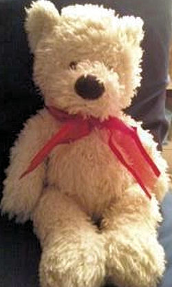 2005 Preferred Plush Dark Brown Bear with Red Ribbon