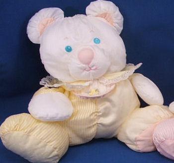 , FOUND – 1988 Fisher Price PUFFALUMP YELLOW STRIPE Baby BEAR