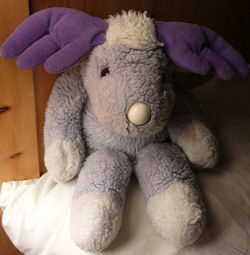 GUND Purple moose