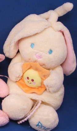 KIDS II Crib Pull Cream RAE Rabbit that Sings You Are My Sunshine