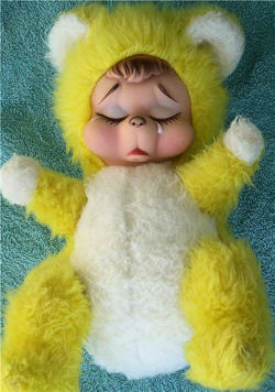 , DISCONTINUED – 70'S RUSHTON Yellow & White CRYING BEAR