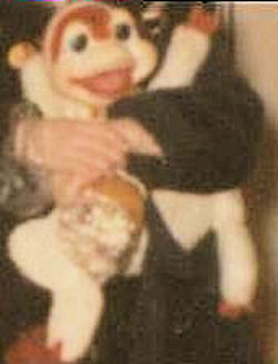 60's? 70's? Rushton White Frog Wearing a Red Hat, Bow Tie & Vest