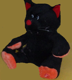 RUSS? Black Cat with Orange Paws & Red Ears