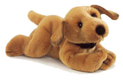 ", FOUND – RUSS Purebred Series GOLDEN RETRIEVER Lying Down approx. 10"" CINNAMON DOG Similar to Mini Fetchit"
