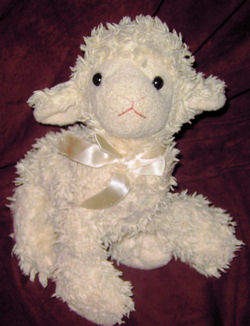 , FOUND – RUSS White Chenille LAMB