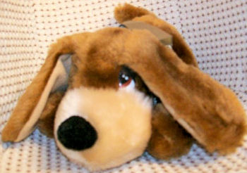 80's Lying Down Brown & Tan Beagle Sad Eyed Dog
