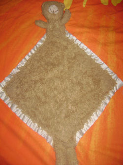 My Favorite Blanky Brown Chenille Bernie the Bear Blankie with Feet and Tail