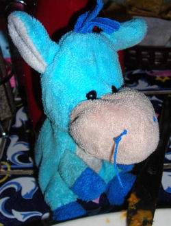 Small Shanghai Toy Blue Donkey