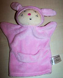 Sia Small Pink Rabbit with Hood & Pouch