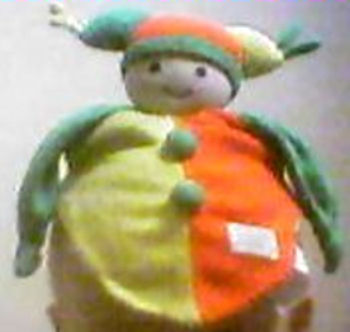 , Searching – Simba ORANGE YELLOW GREEN JESTER DOLL Blankie