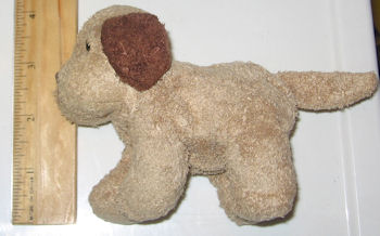 Small Light & Dark Brown Beanie Dog