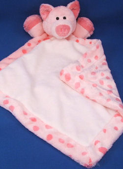 Soft Classics Pink Pig Blankie with Big Pink Spots