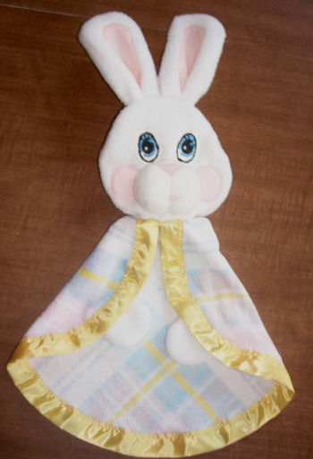 REPLICA of Fisher Price Bunny Rabbit Snuzzles Plaid Security Blanket
