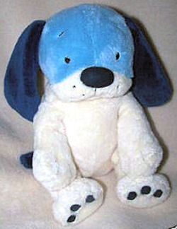 Dog from Target with Top Half Blue Face and Bottom Half White