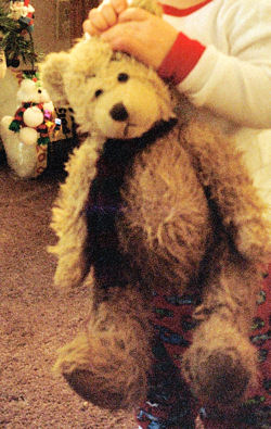 , FOUND – Target BROWN BEAR with a GREEN & RED SCARF