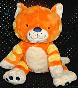 2006? Target ORANGE CAT with YELLOW STRIPES & WHITE