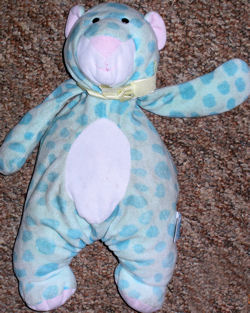 """, Searching – MINT GREEN """"BEAR"""" with TEAL SPOTS"""