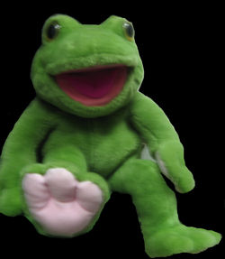 Toadie, the Green Frog Puppet