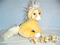 90's Hasbro Surprise Tan Pony with Babies in the Velcro Tummy