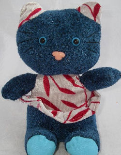 Small Tony Toy Puli Blue Cat with Striped Ears, Body