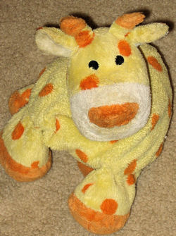 Toys 'R Us Soft Classics Yellow Giraffe with Orange Polka Dots