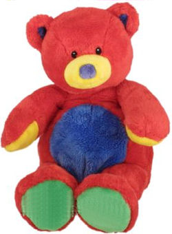 Baby GUND Tutti Frutti Red Bear with Green Feet