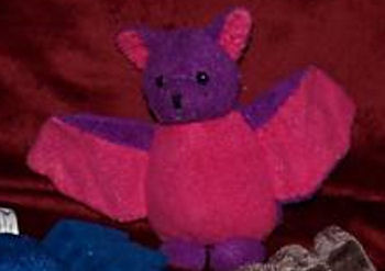 RUSS Purple Bat with Pink Ears & Wings