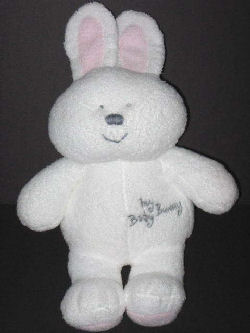 2004 TY Pluffies White My Baby Bunny Rabbit