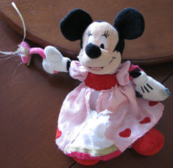 Hallmark Valentine's version of Minnie Mouse with a Tiara and Magic Wand