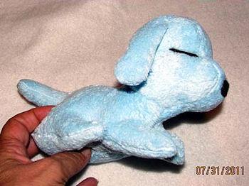 , FOUND – 60's SMALL BLUE SLEEPING DOG