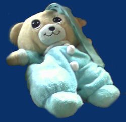Walgreen's plush brown bear blue sleeper
