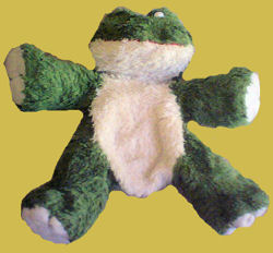 Walmart Green Frog with Cream Chin, Tummy, and Feet