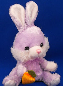 Walmart Lavender White Seated Rabbit Upright Ears Carrot