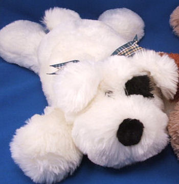 Walmart Floppy White Lying Down Dog with Big Black Nose