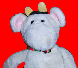 90's GUND Black & White Moo Cow with Yellow Horns