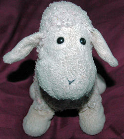 Target White Lamb with Big Head and Smile