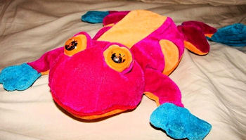 Large Bright Multi-Colored NANCO Frog