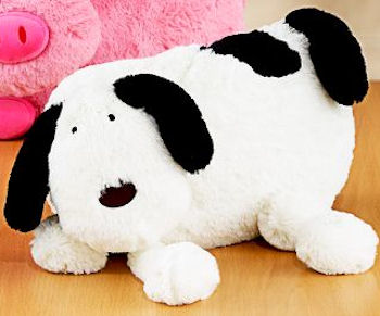 World Market White & Black Big Head Dog with Long Legs