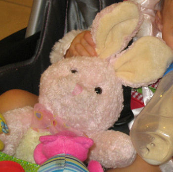World's Best Toys Light Pink Rabbit with Stiff Ears