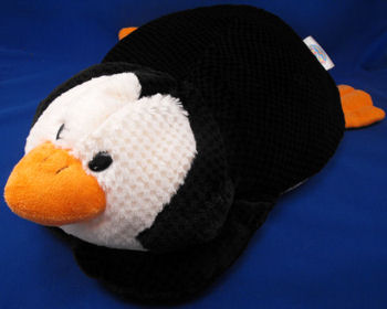 XL Jay at Play MOSHI Style Microbead Black & White Penguin