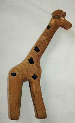 Yellow Corduroy Giraffe
