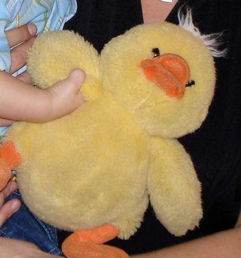 2005 10 inch Yellow Quacking Duck