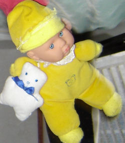 Yellow Velour Doll