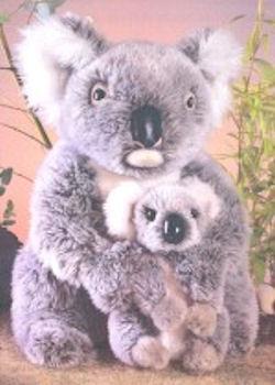 Yomiko GRAY Koala Bear Holding Baby