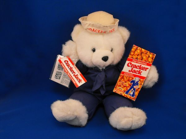 1995 Borden Lg White Cracker Jack Bear Blue Sailor Suit w Box