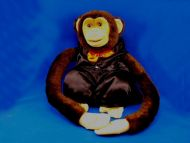 2006 Ruhof Brown Long Arm Full Body Puppet Monkey Squeaker