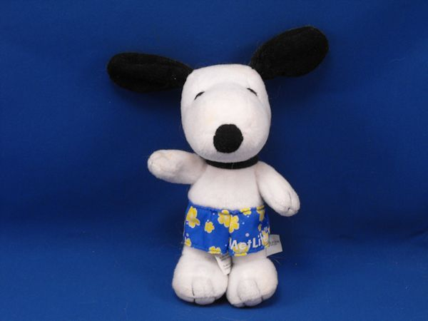 MetLife Small Poseable SNOOPY Blue Yellow Swim Trunks