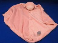 Angel Dear Pink White Asleep Lamb Blankie Knotted Buttons