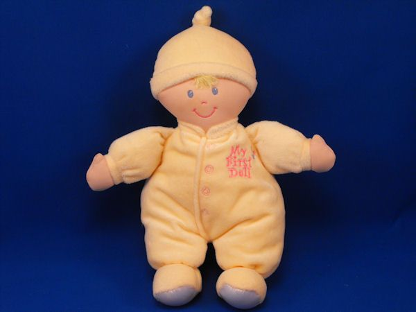 Animal Alley Blond My First Doll Yellow Sleeper Cap Knotted