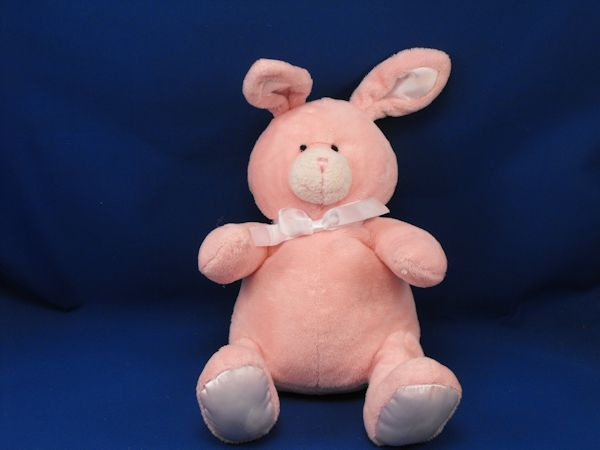 Super Soft Pink Rabbit White Satin Upright Ears, Feet